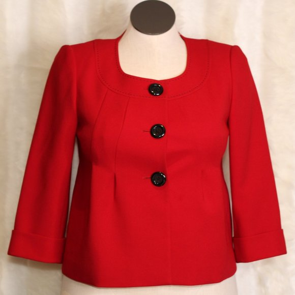 Liz Claiborne Red Blazer Suit Jacket